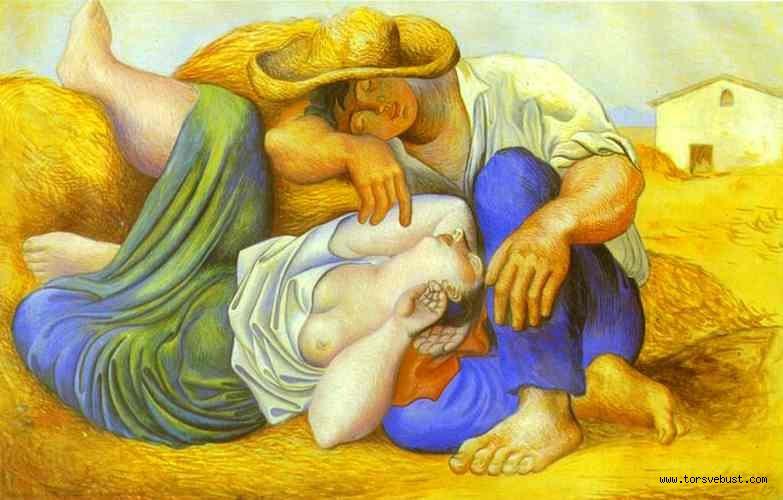 UYUYAN KÖYLÜLER RÖLYEFİ (Picasso)